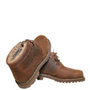 Lavitus Classic Boots Fettnubuk mit Lammfell